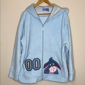 "NWT SMALL Disney/'s Eeyore /""Oh Well/"" Woman/'s Zip-Up Hoodie Sweatshirt SOFT!"